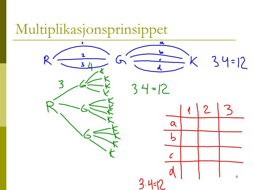 Multiplikasjonsprinsippet