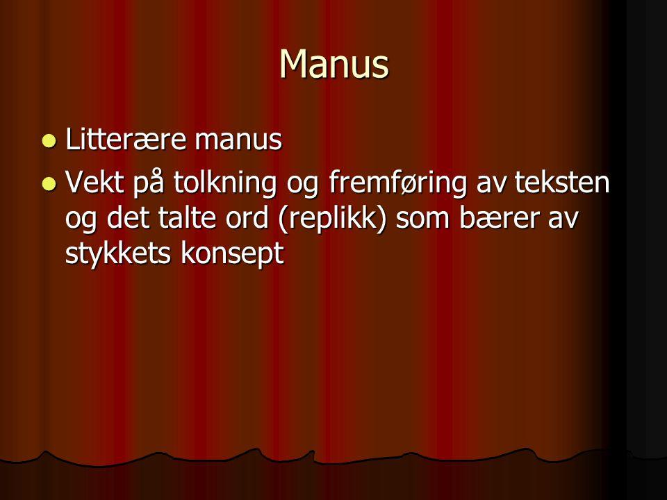Manus Litterære manus.