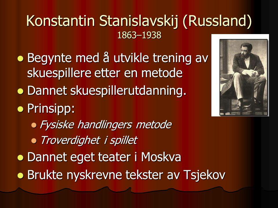 Konstantin Stanislavskij (Russland) 1863–1938
