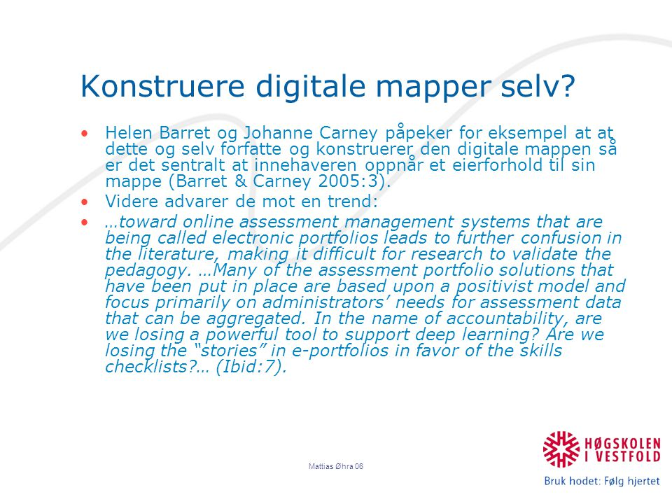 Konstruere digitale mapper selv