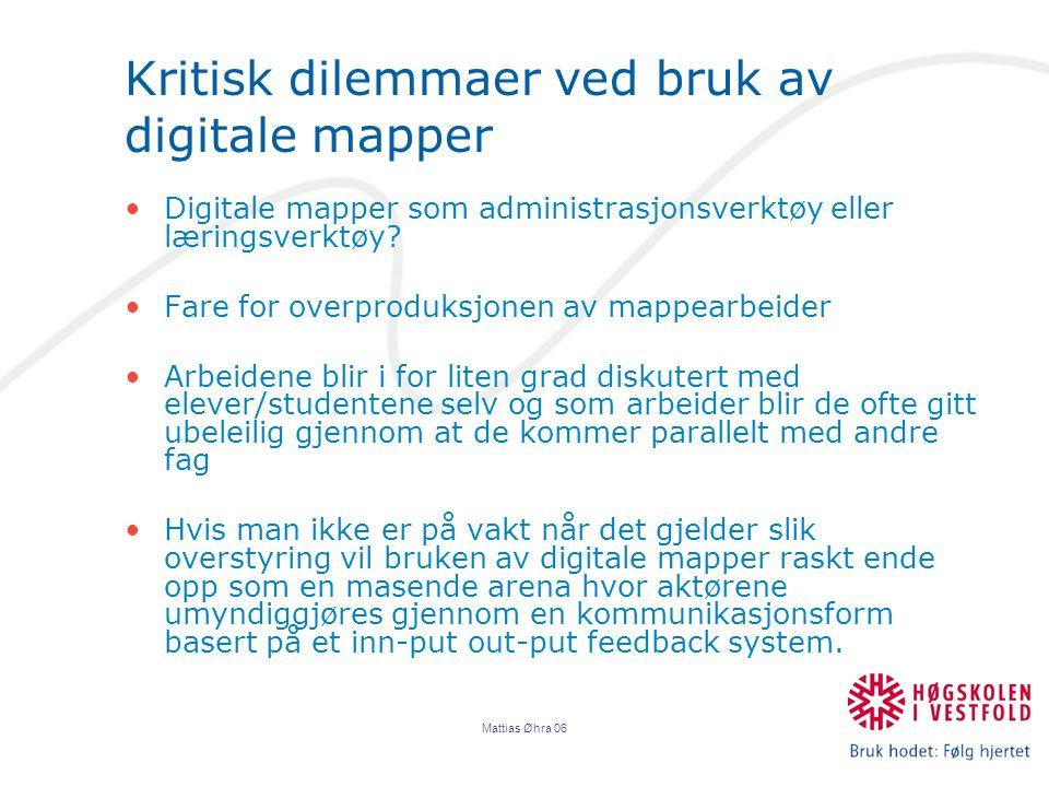 Kritisk dilemmaer ved bruk av digitale mapper