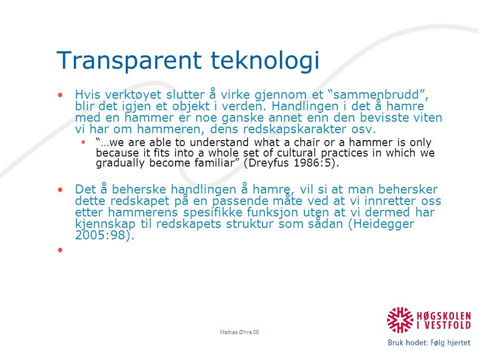 Transparent teknologi