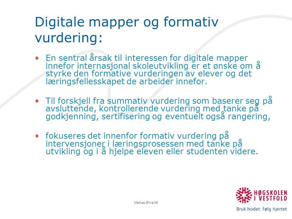 Digitale mapper og formativ vurdering: