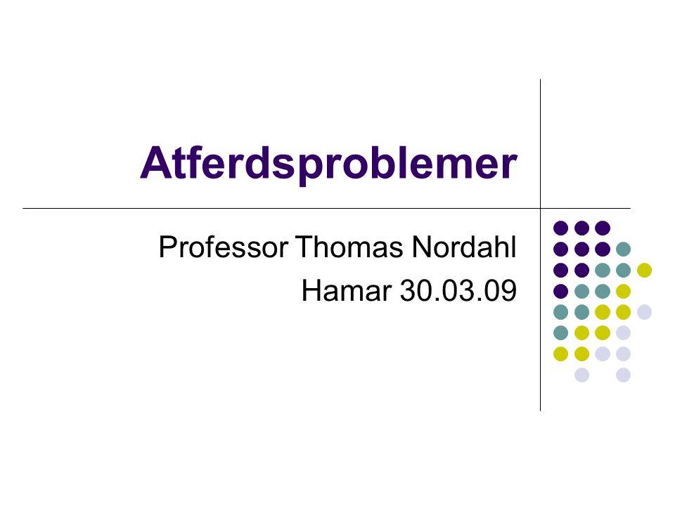 Professor Thomas Nordahl Hamar 30.03.09