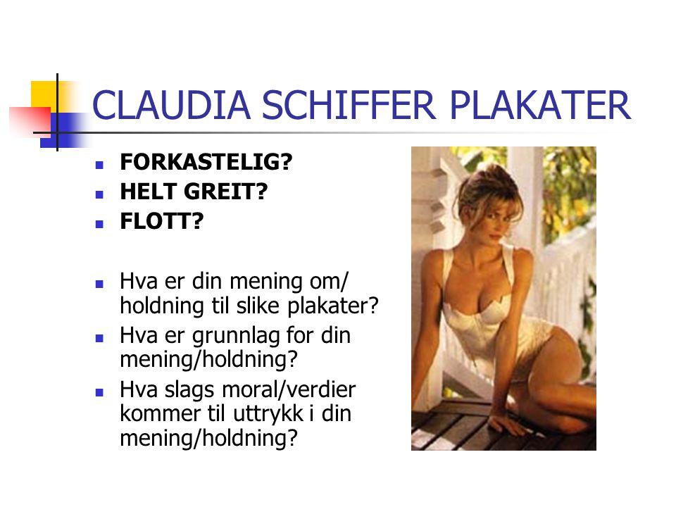 CLAUDIA SCHIFFER PLAKATER