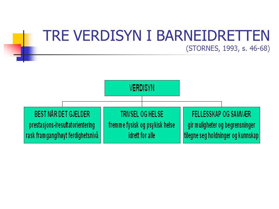 TRE VERDISYN I BARNEIDRETTEN (STORNES, 1993, s. 46-68)
