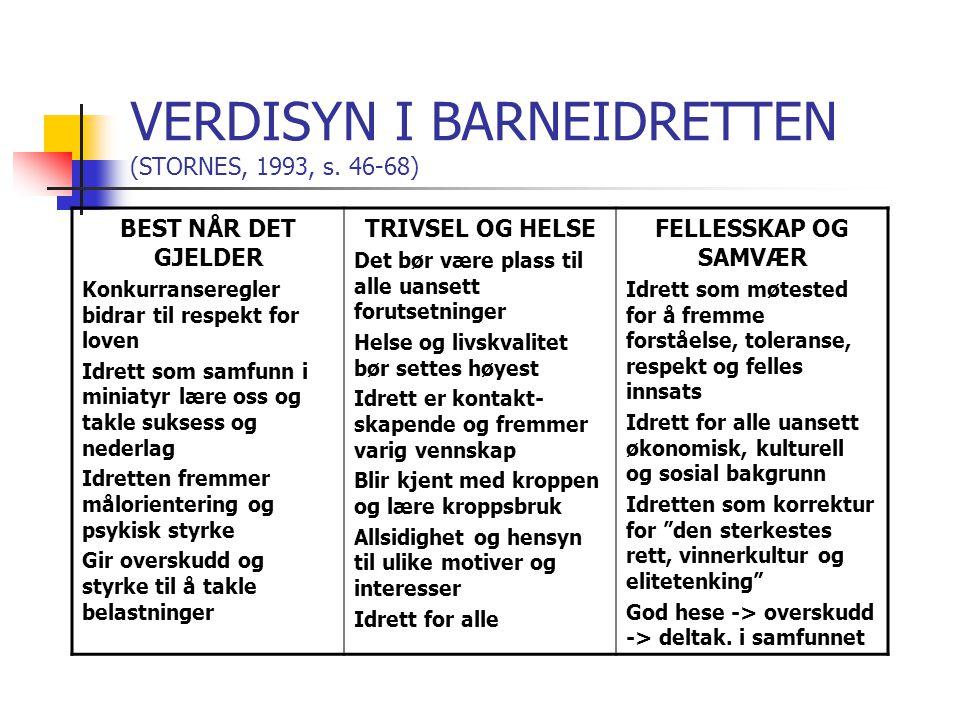 VERDISYN I BARNEIDRETTEN (STORNES, 1993, s. 46-68)