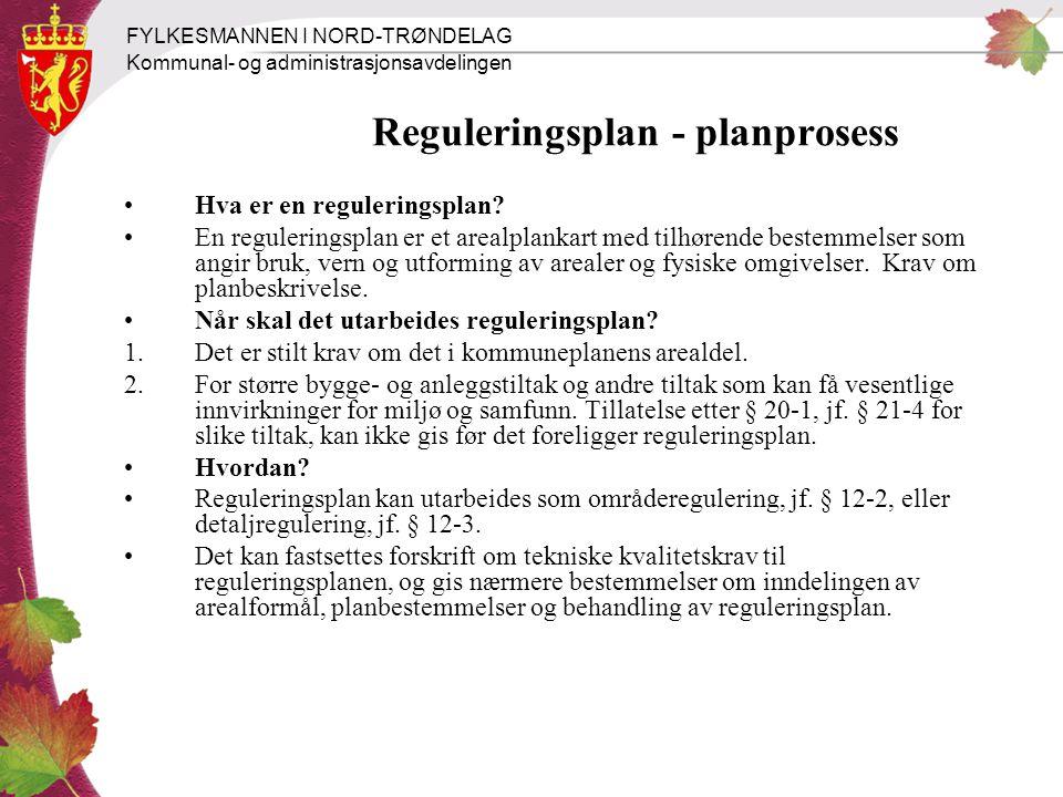 Reguleringsplan - planprosess