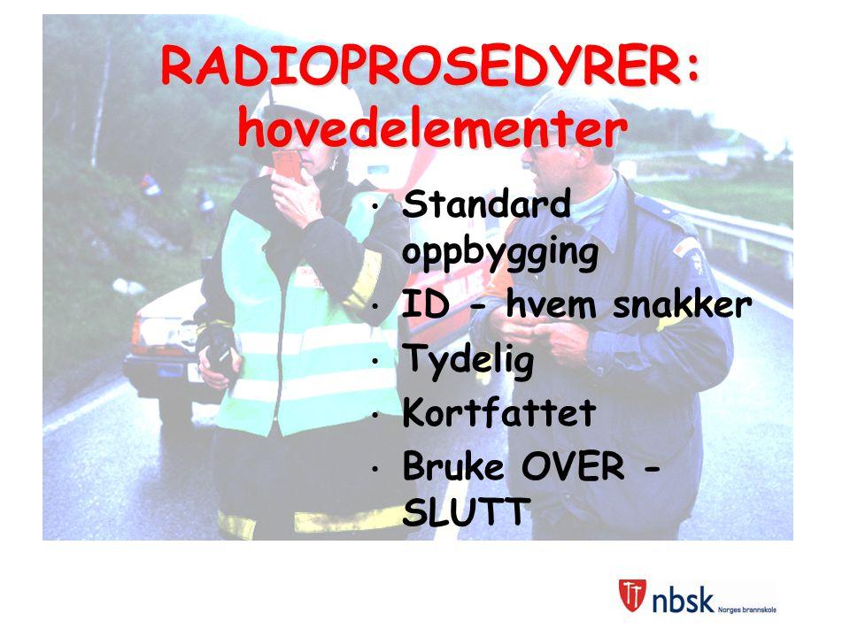 RADIOPROSEDYRER: hovedelementer