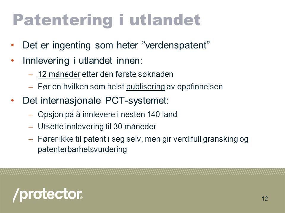 Patentering i utlandet
