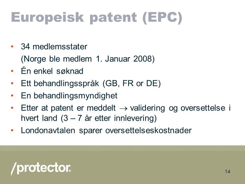 Europeisk patent (EPC)