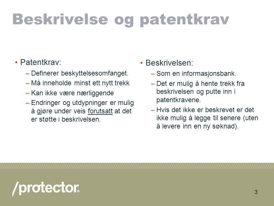 Beskrivelse og patentkrav