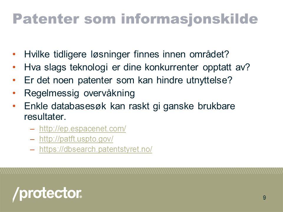 Patenter som informasjonskilde