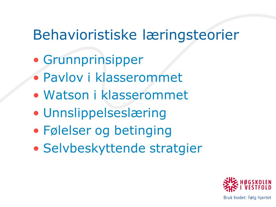 Behavioristiske læringsteorier