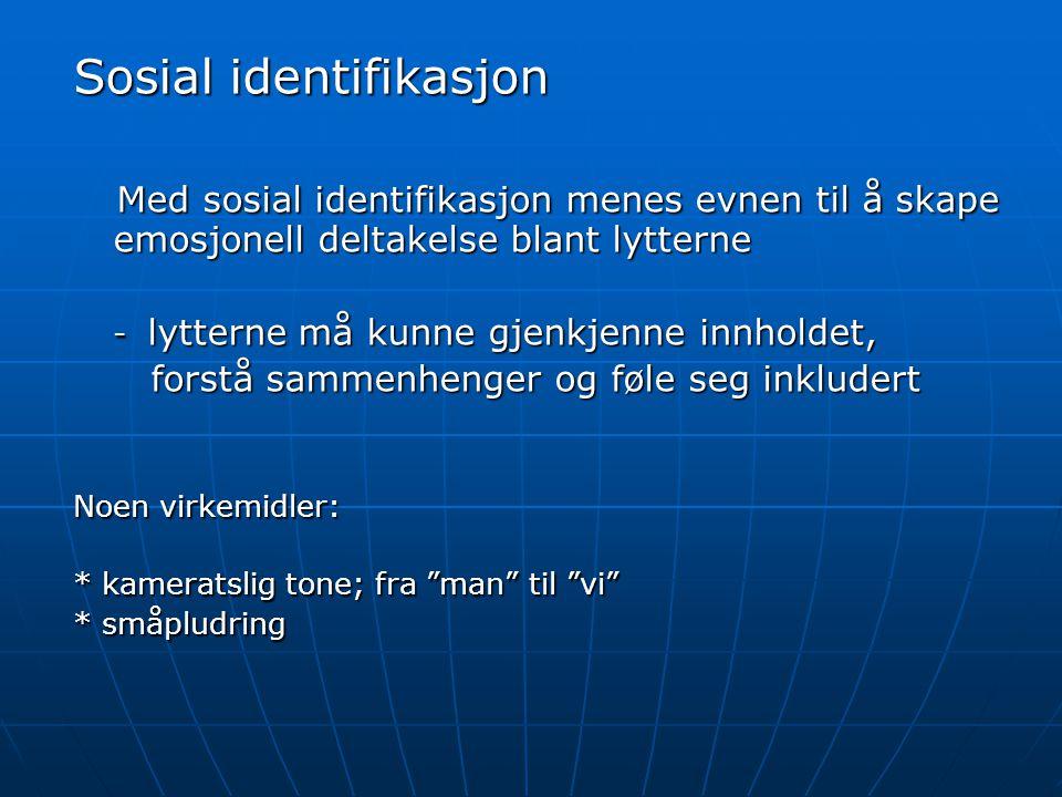 Sosial identifikasjon