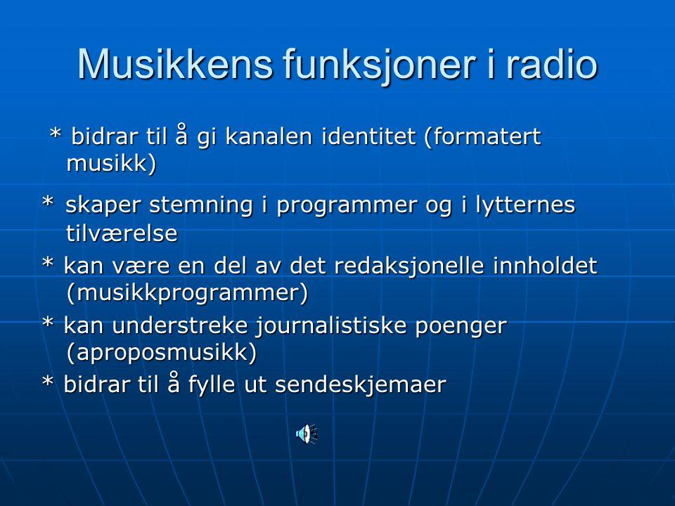 Musikkens funksjoner i radio