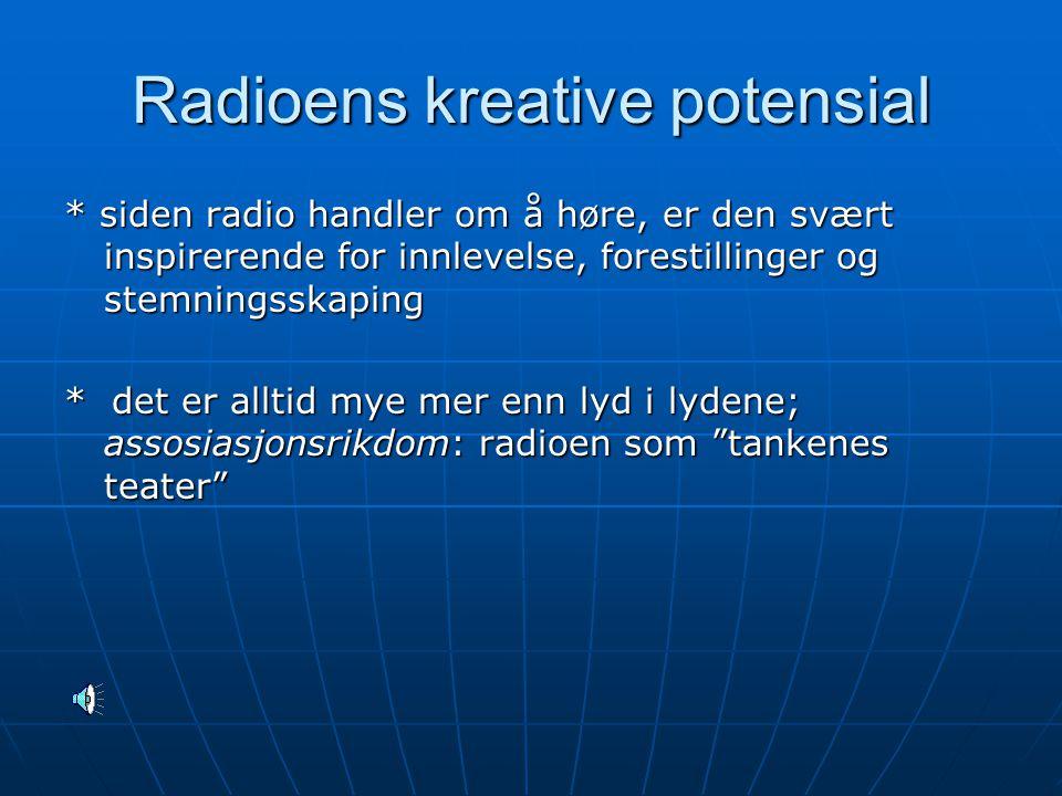 Radioens kreative potensial