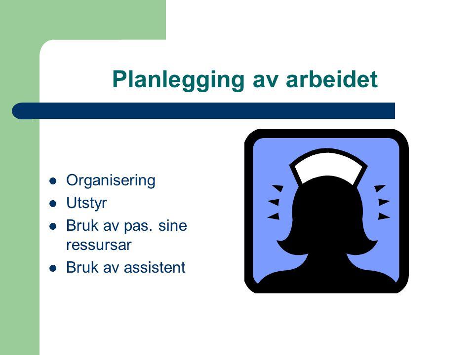 Planlegging av arbeidet