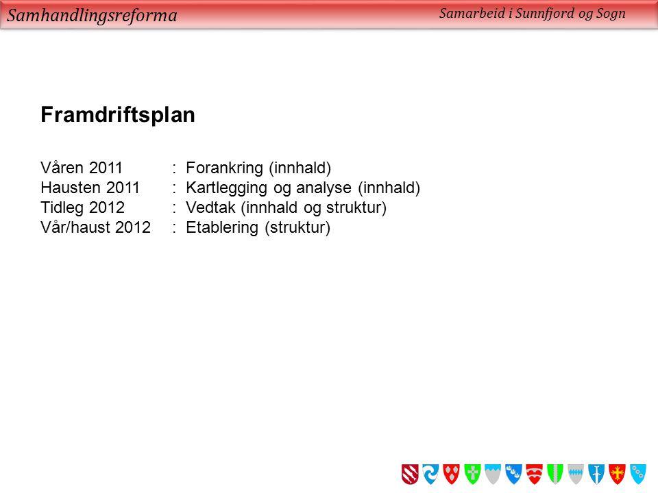 Framdriftsplan Samhandlingsreforma Våren 2011 : Forankring (innhald)