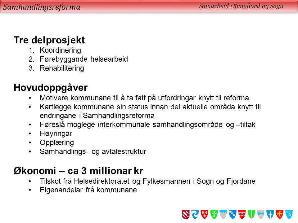 Økonomi – ca 3 millionar kr