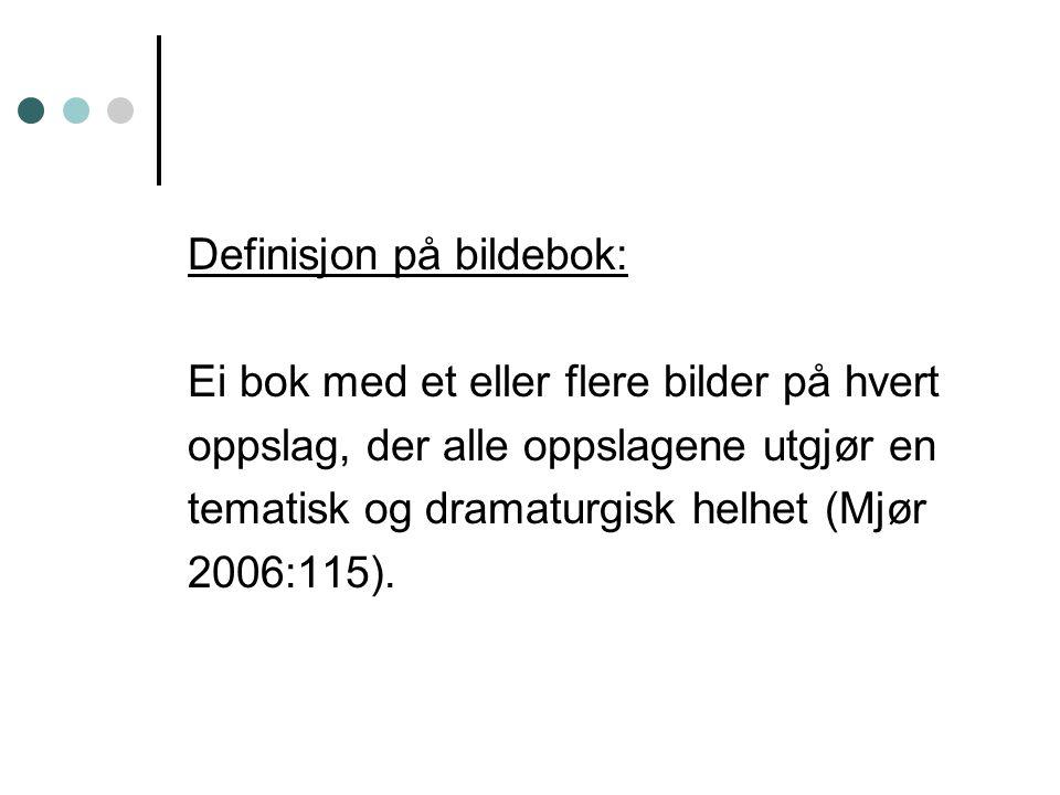 Definisjon på bildebok: