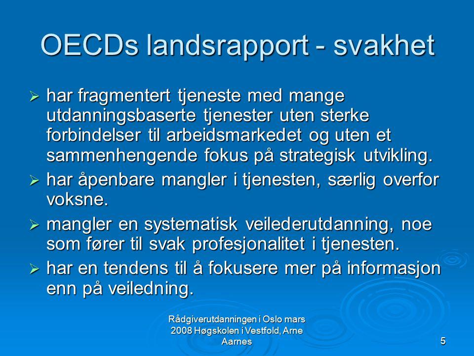 OECDs landsrapport - svakhet