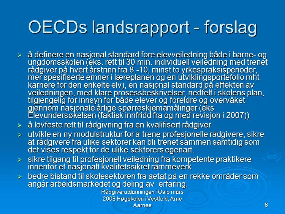 OECDs landsrapport - forslag