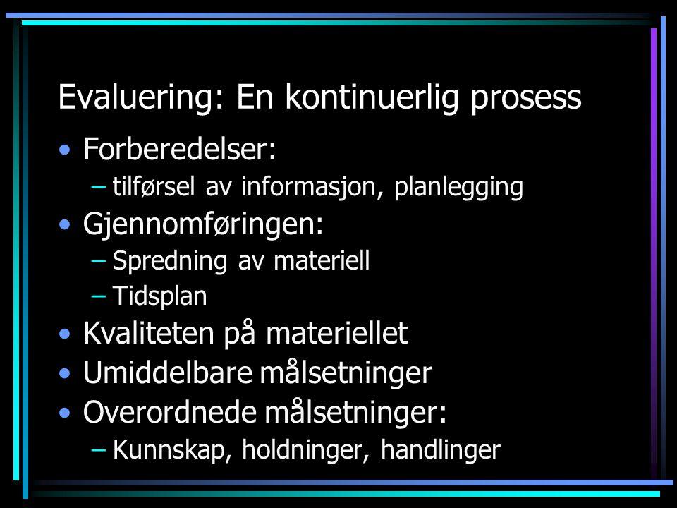 Evaluering: En kontinuerlig prosess