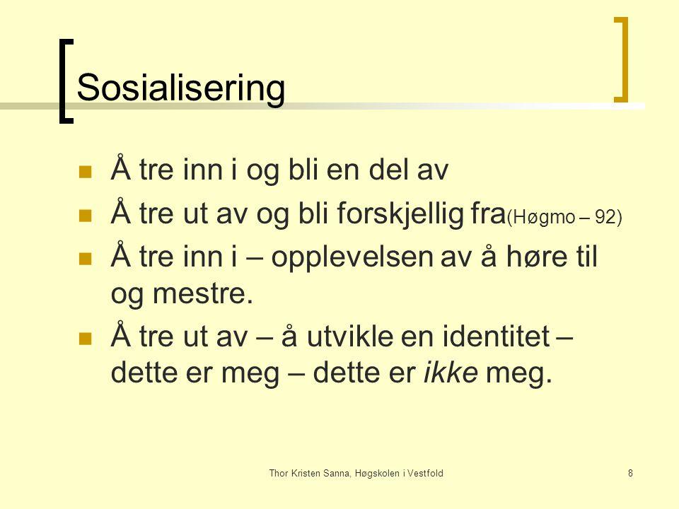 Thor Kristen Sanna, Høgskolen i Vestfold