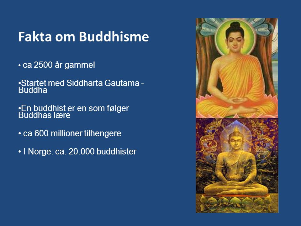 Fakta om Buddhisme Startet med Siddharta Gautama - Buddha