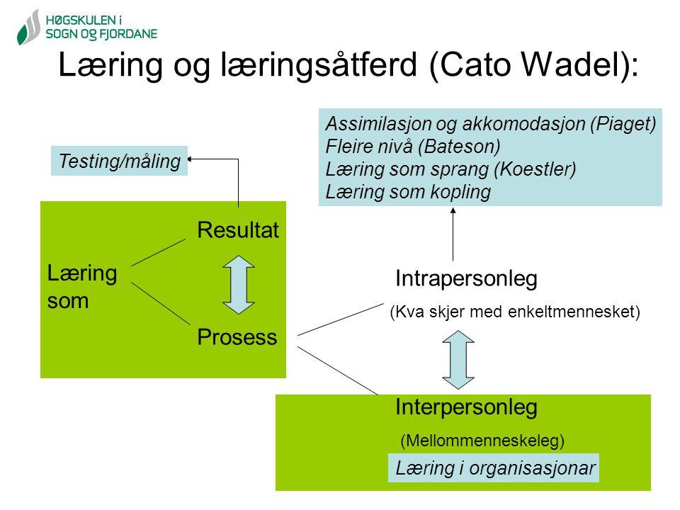 Læring og læringsåtferd (Cato Wadel):