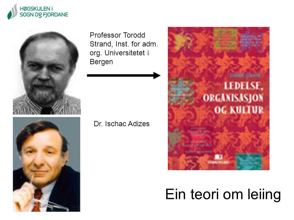 Ein teori om leiing Professor Torodd Strand, Inst. for adm.