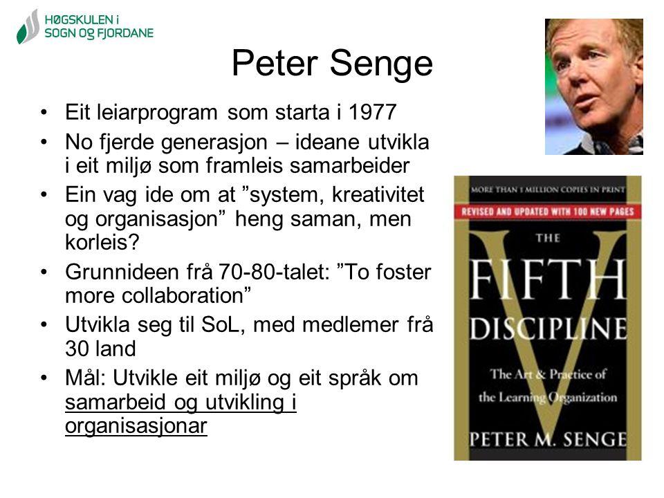 Peter Senge Eit leiarprogram som starta i 1977