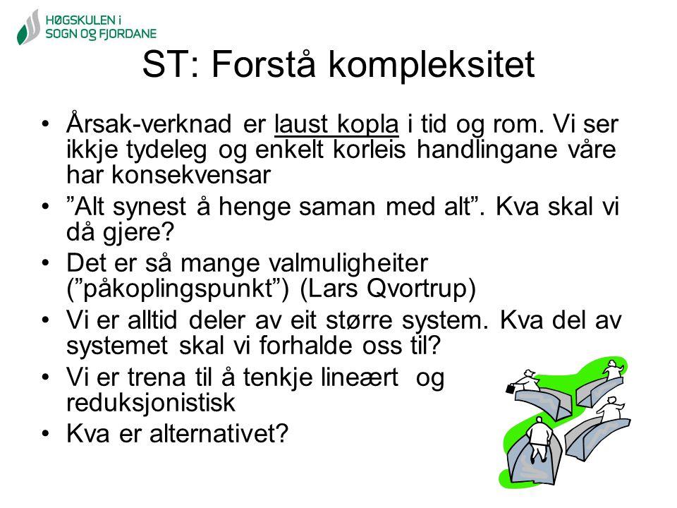 ST: Forstå kompleksitet