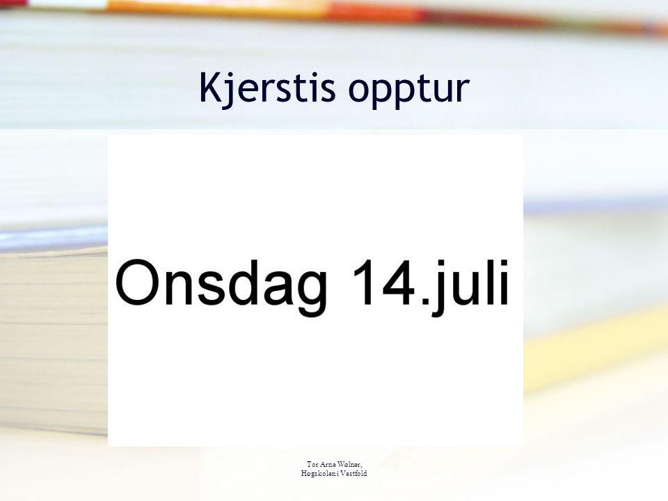 Kjerstis opptur Tor Arne Wølner, Høgskolen i Vestfold