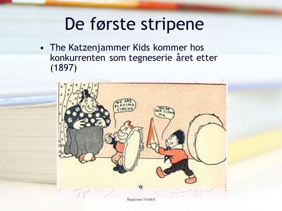 De første stripene The Katzenjammer Kids kommer hos konkurrenten som tegneserie året etter (1897) Tor Arne Wølner,