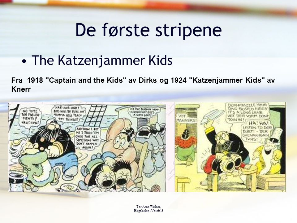 De første stripene The Katzenjammer Kids