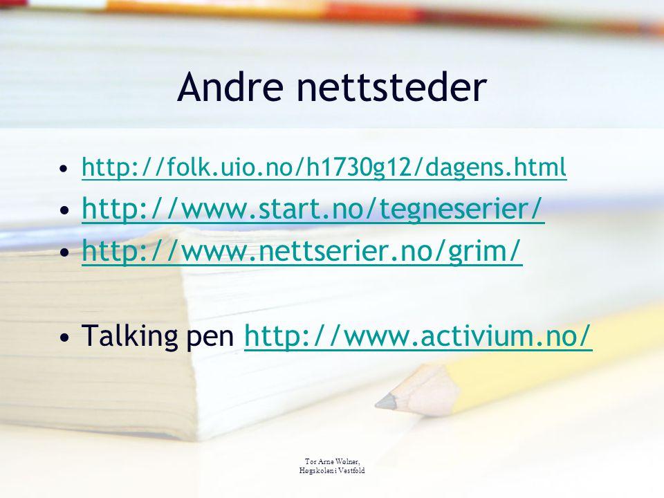 Andre nettsteder http://www.start.no/tegneserier/