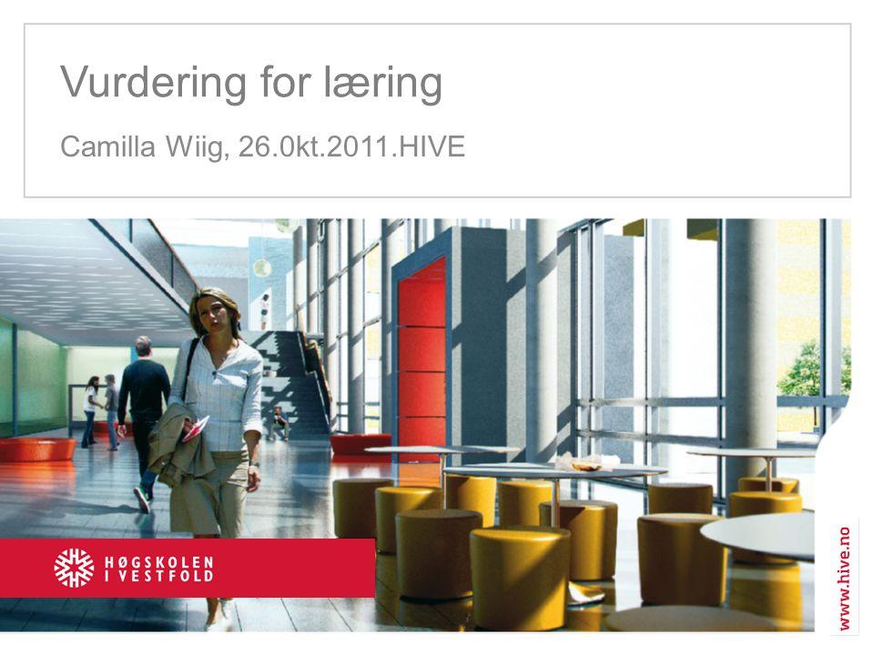Vurdering for læring Camilla Wiig, 26.0kt.2011.HIVE