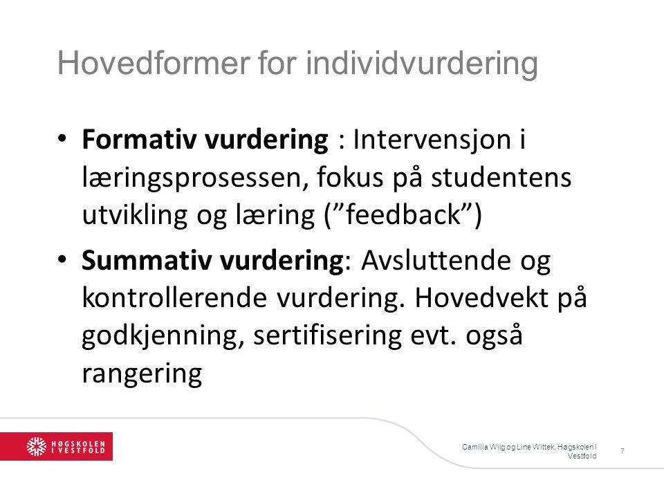 Hovedformer for individvurdering