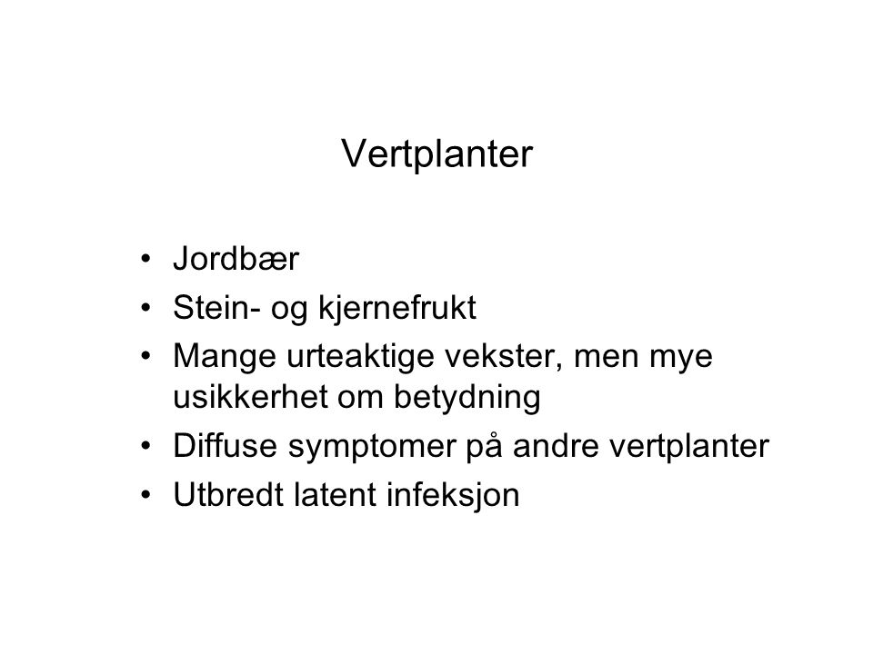 Vertplanter Jordbær Stein- og kjernefrukt