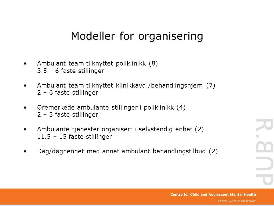 Modeller for organisering