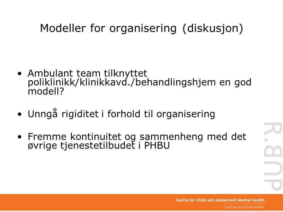 Modeller for organisering (diskusjon)