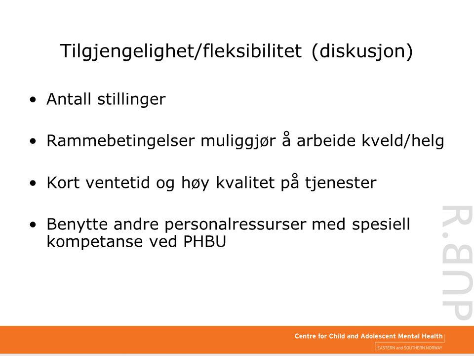 Tilgjengelighet/fleksibilitet (diskusjon)