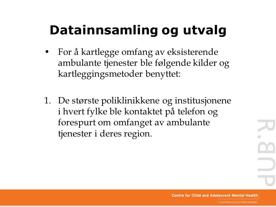 Datainnsamling og utvalg