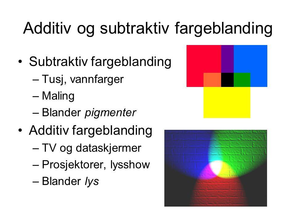 Additiv og subtraktiv fargeblanding