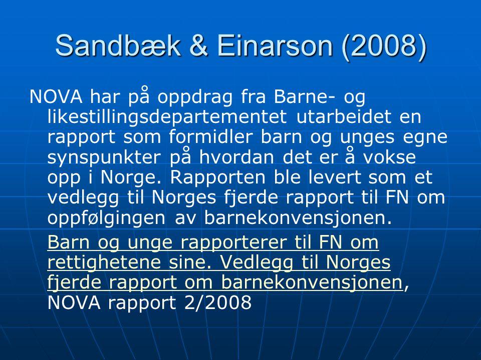 Sandbæk & Einarson (2008)