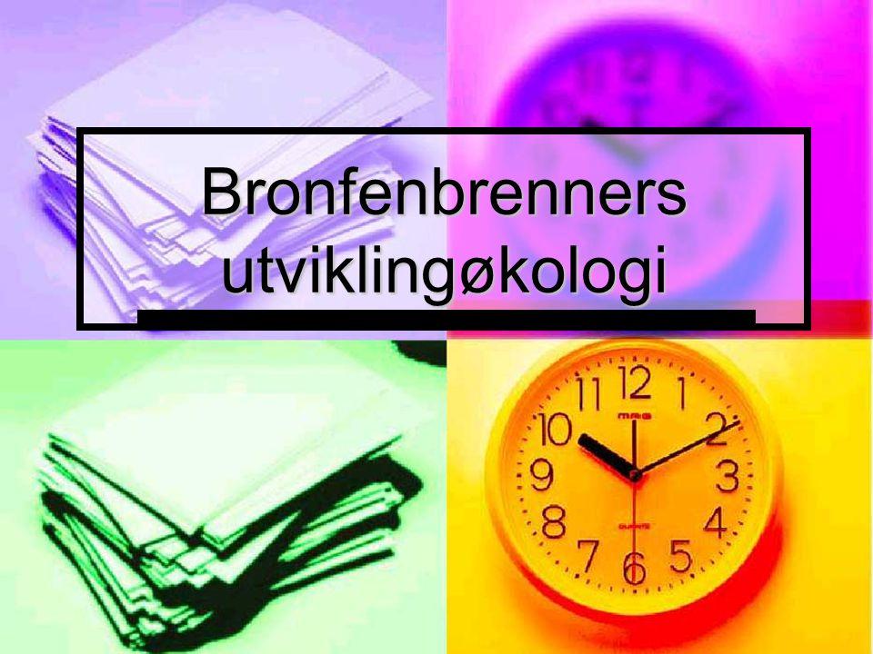 Bronfenbrenners utviklingøkologi