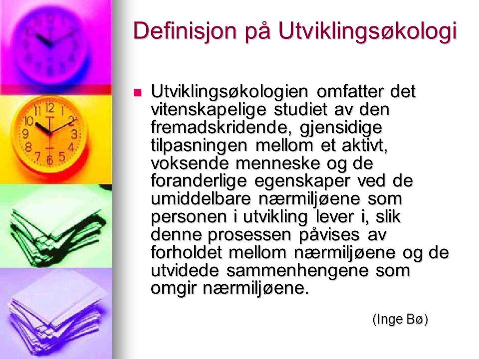 Definisjon på Utviklingsøkologi