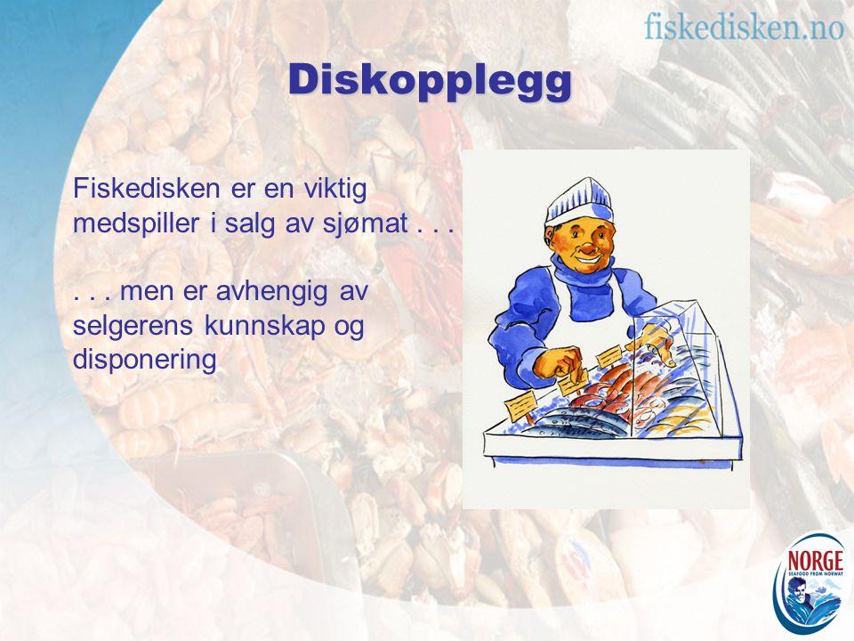 Diskopplegg Fiskedisken er en viktig medspiller i salg av sjømat . . .